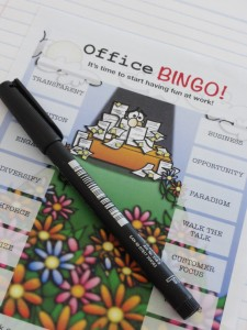 Office Jargon bingo template give away