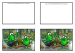 Free easter card with Bill and Ben the little green alien men