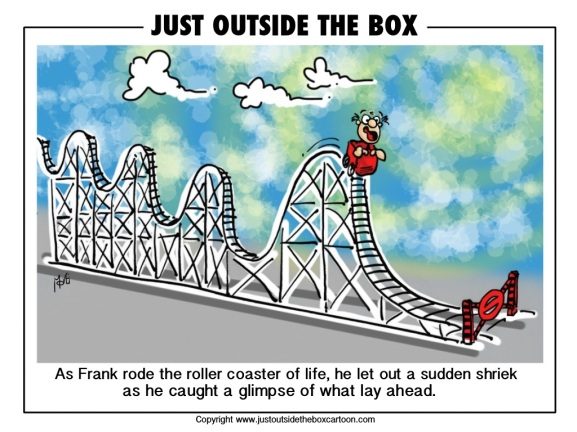 roller coaster | Just Outside the Box Cartoon