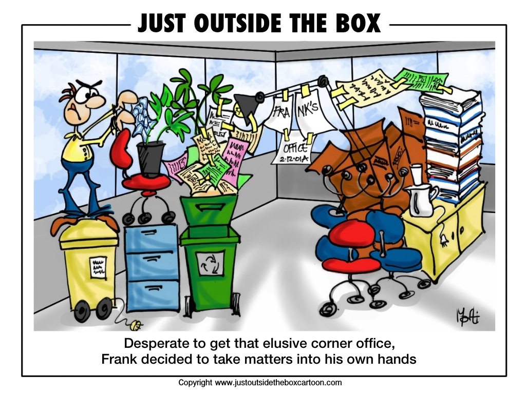 The Corner Office Just Outside The Box Cartoon