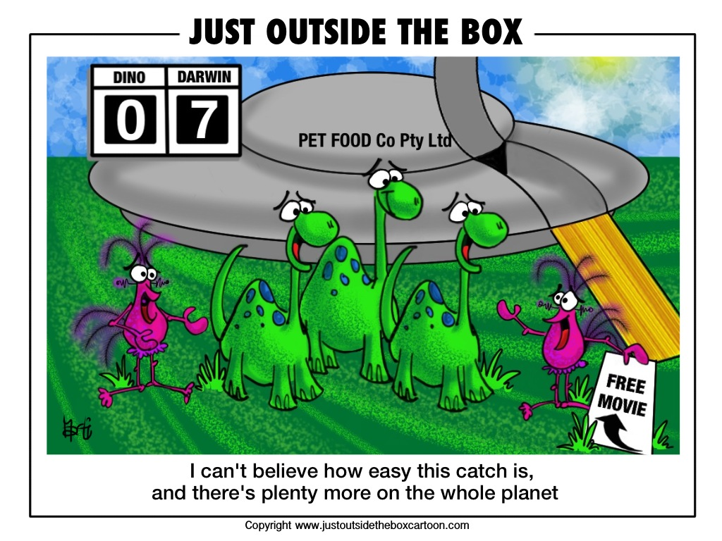 Dinosaurs Archives - Just Outside the Box Cartoon