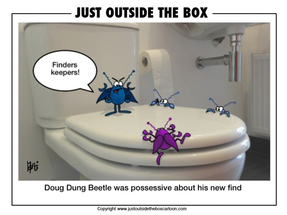 Finders keepers for Doug the Dung beetle