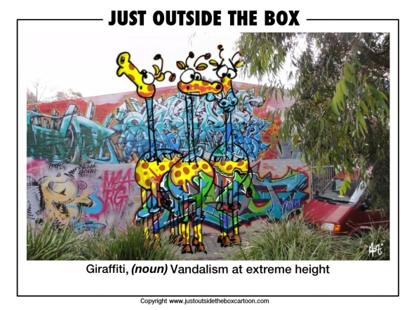 Giraffiti: Vandalism at extreme height