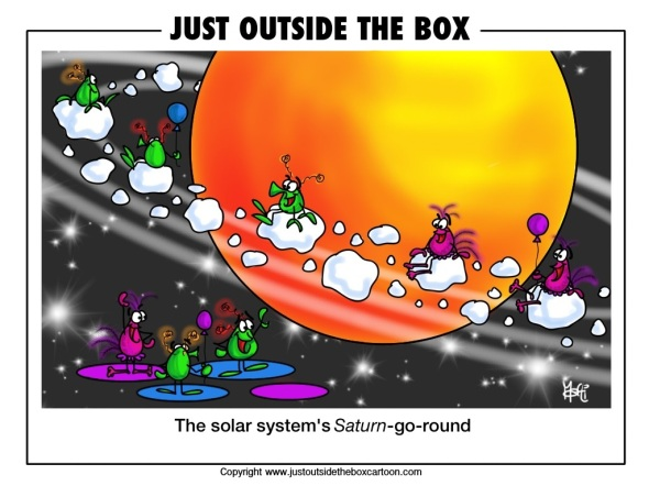 Alines enjoying the Saturn-go-round in our solar system