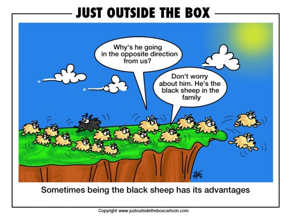 Lemmings jumping the cliff