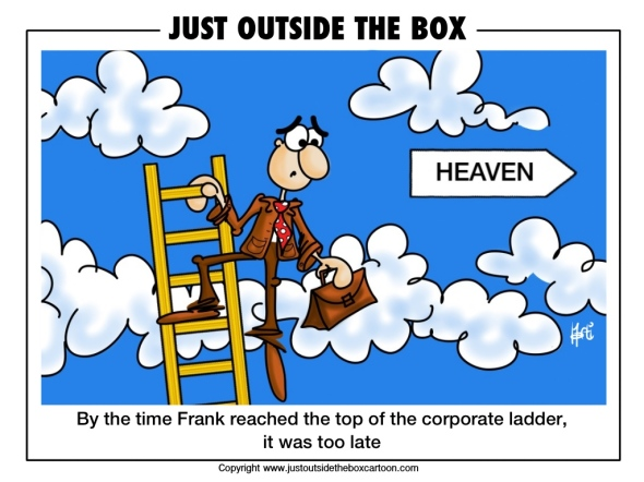 corporate ladder leading all the way to heaven