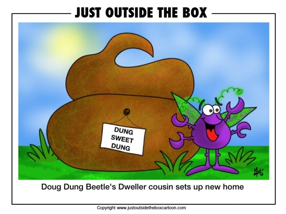 doug dung beetle's cousin the dweller dung beetle