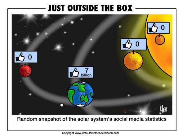 Facebook hits the solar system