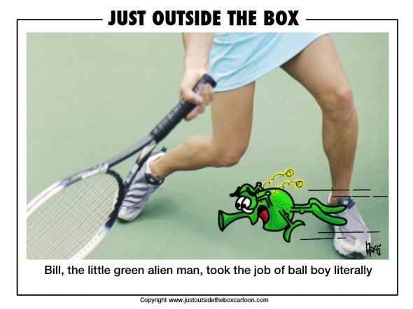 Ball boy with bounce