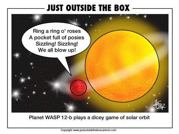 WASP 12b gets a bit too close to its sun