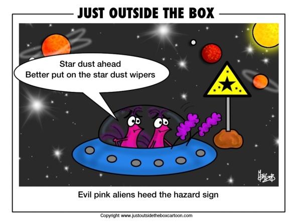 Evil aliens spot stardust