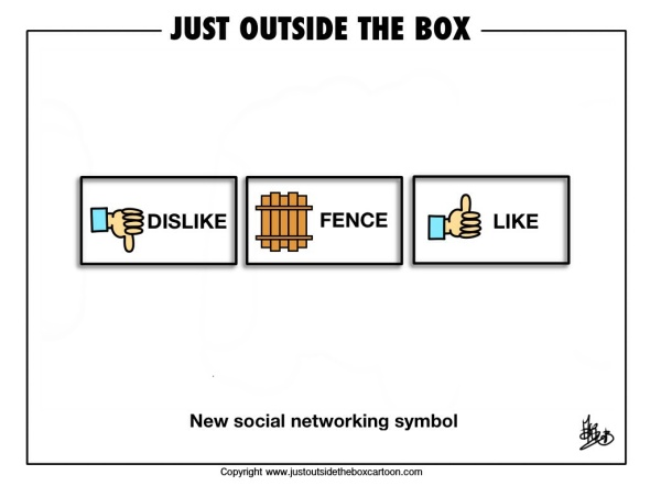 Social networking fence sitting