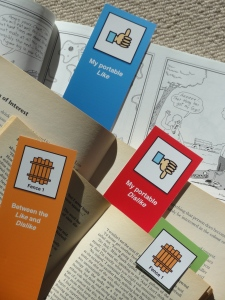 Give away bookmarks to print