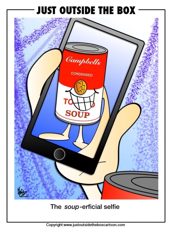 Campbell's soup selfie