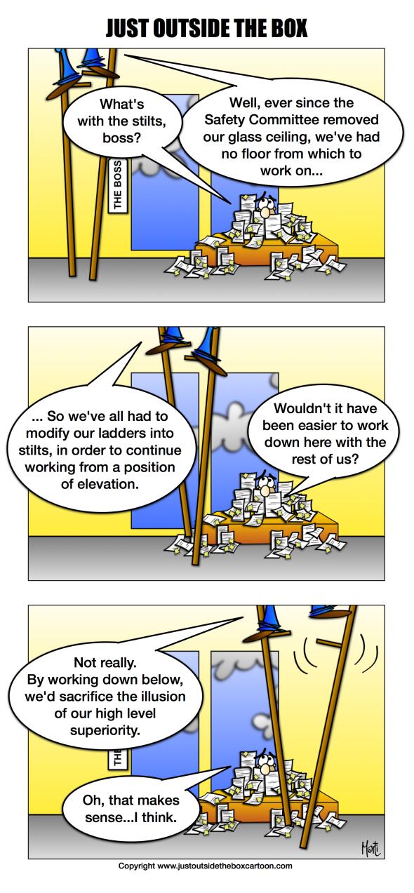 Corporate ladder stilts