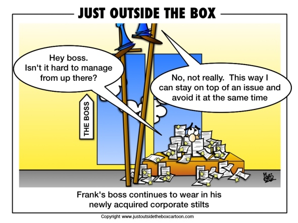 Corporate ladder replaced