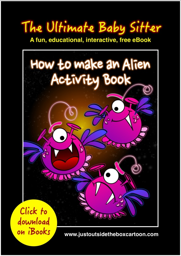 Free kids activity book on alien for iPad